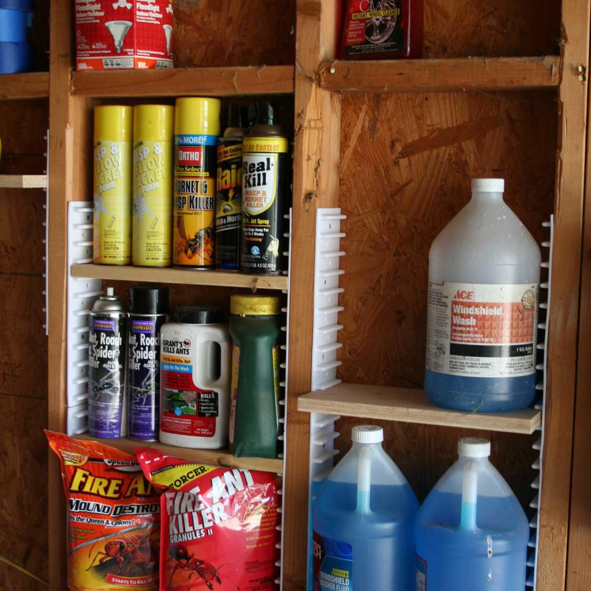 EZStudRack storage system organizing a pantry